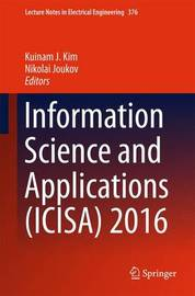 Information Science and Applications (ICISA) 2016