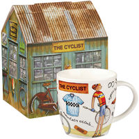 Queens At Your Leisure Cyclist Squash Mug In Box (400ml)