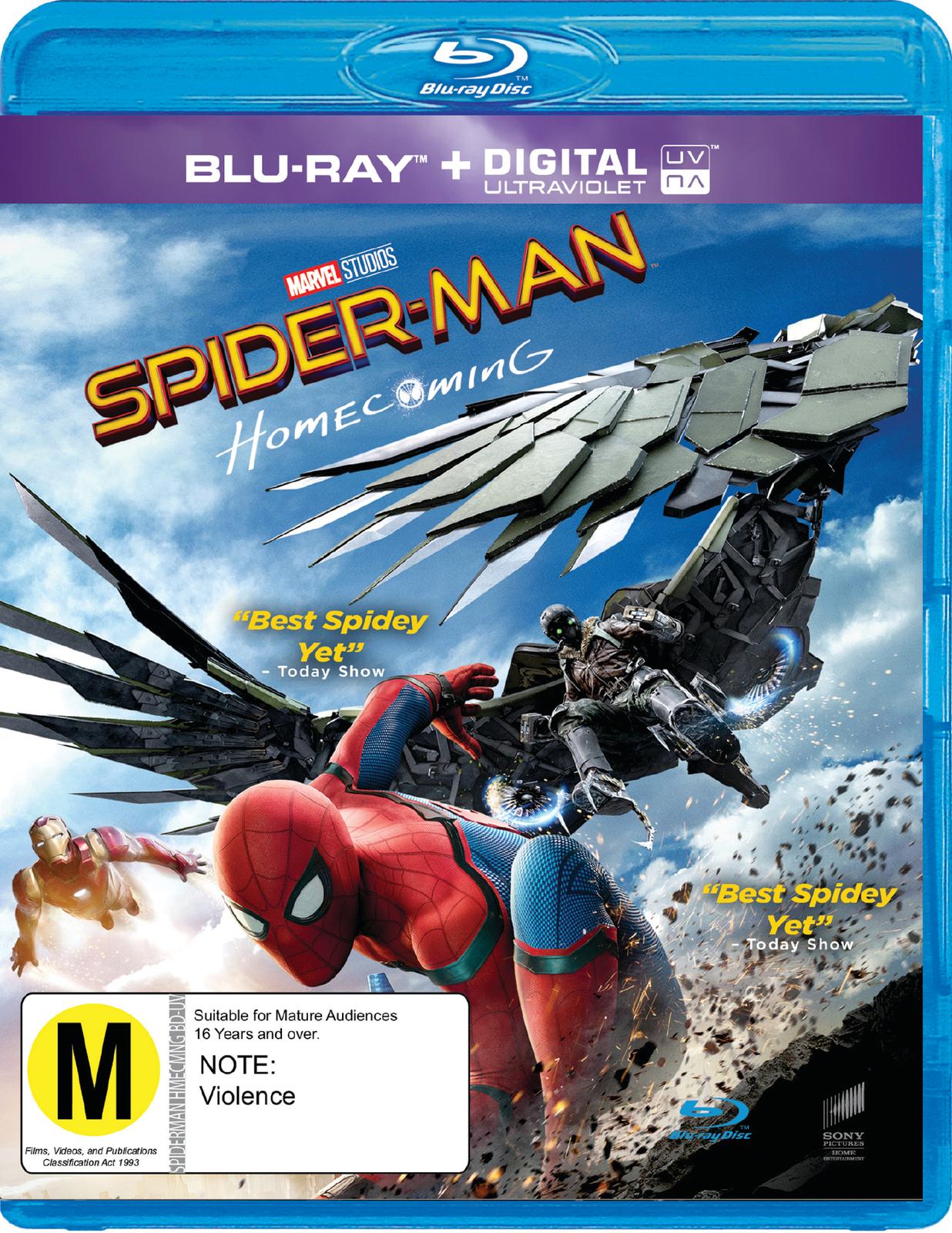 Spider-Man: Homecoming on Blu-ray, UV image