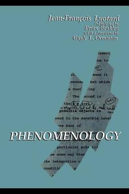 Phenomenology by Jean-Francois Lyotard