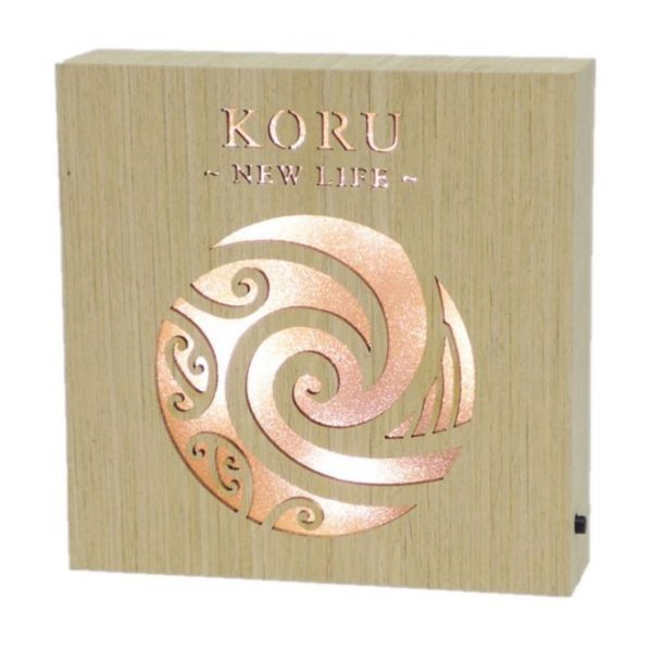 Koru New Life Wooden LED Block