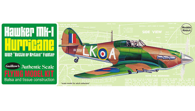 Hawker Hurricane 1/30 Balsa Model Kit
