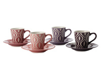 Maxwell & Williams - Graphique Flame Demi Cup & Saucer Set (Set of 4)