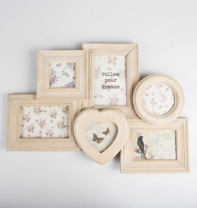 Rustic White Wood Collage Photo Frame | at Mighty Ape NZ