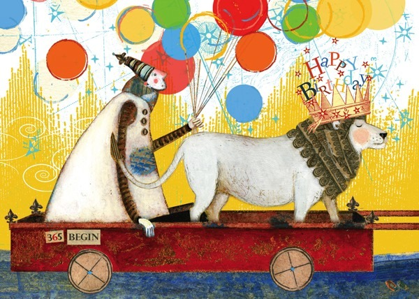 Sacred Bee: Birthday Wagon Greeting Card