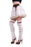 Steampunk Buckled Spat (White)