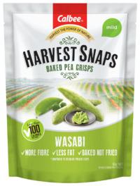 Calbee: Harvest Snaps Baked Pea Crisps - Wasabi (93g)