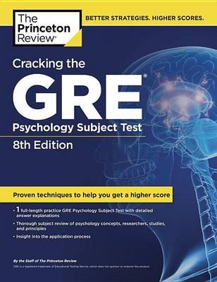 Cracking The Gre Psychology Subject Test, 8Th Edition by Princeton Review image