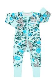 Bonds Zip Wondersuit Long Sleeve - Unreal Tiger Silver (New Born)