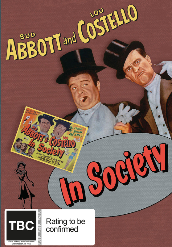 Abbott And Costello: In Society on DVD