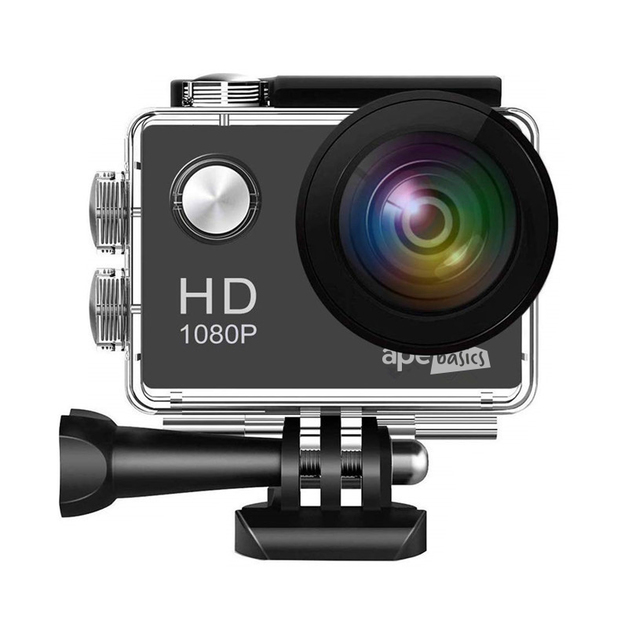 Ape Basics 1080P Waterproof Action Camera - Black