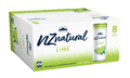 NZ Natural Sparkling Cans Lime 250ml (8 Pack)