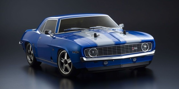 Kyosho: 1/10 GP RS 4WD FW-06 readyset 1969 Chevy Camaro Z/28 Le Mans Blue