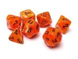 Chessex Signature Polyhedral Dice Set Vortex Orange/Black