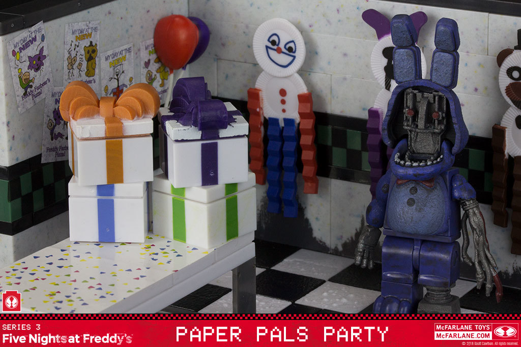 Paper Pals Toys Five Nights At Freddy/'s Party Small Construction Set