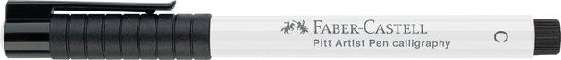 Faber-Castell: Pitt Artist Caligraphy Pen - White