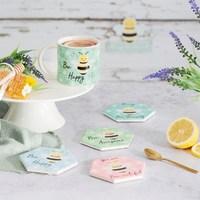 Set of 4 Queen Bee Coasters image