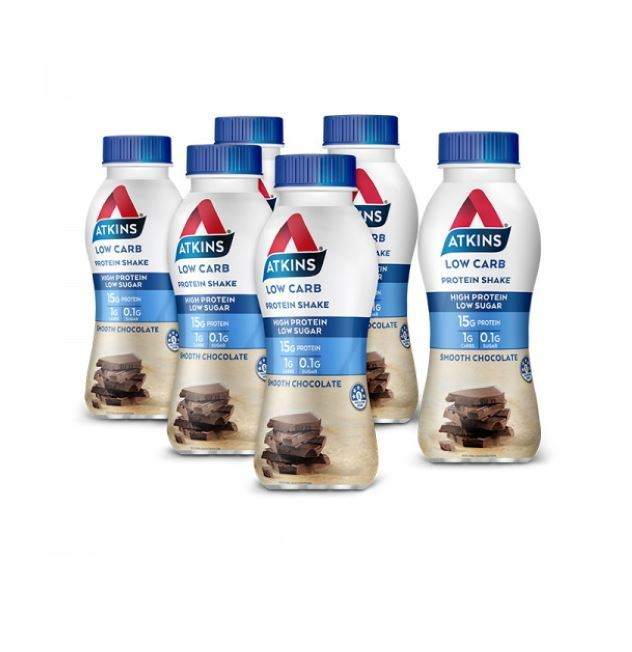 Atkins Low Carb Protein Shake - Chocolate (Pack of 6) image