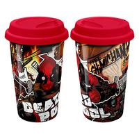 Deadpool Red Lid Travel Mug