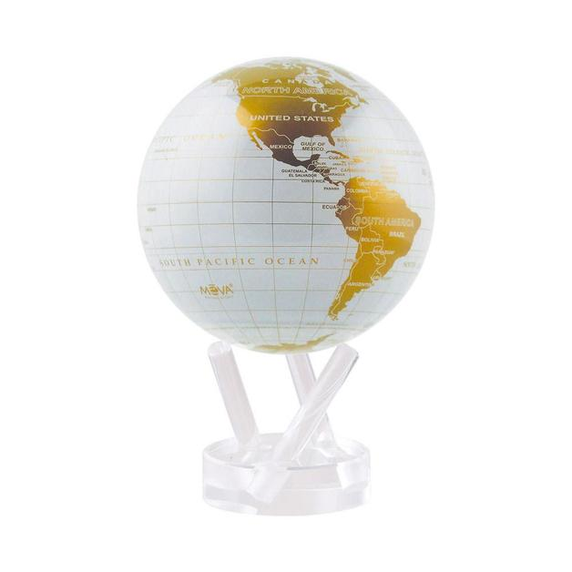 MOVA: Self Rotating Globe - White and Gold (11.5cm)