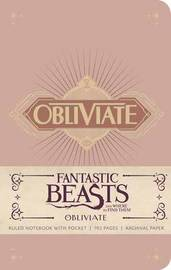 Fantastic Beasts and Where to Find Them: Obliviate Hardcover Ruled Journal by Insight Editions image