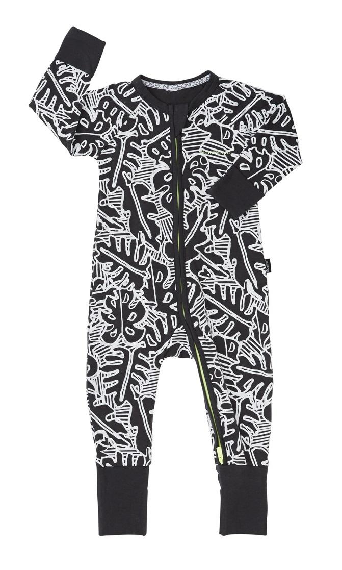 Bonds Zip Wondersuit Long Sleeve - Leaf (3-6 Months) image