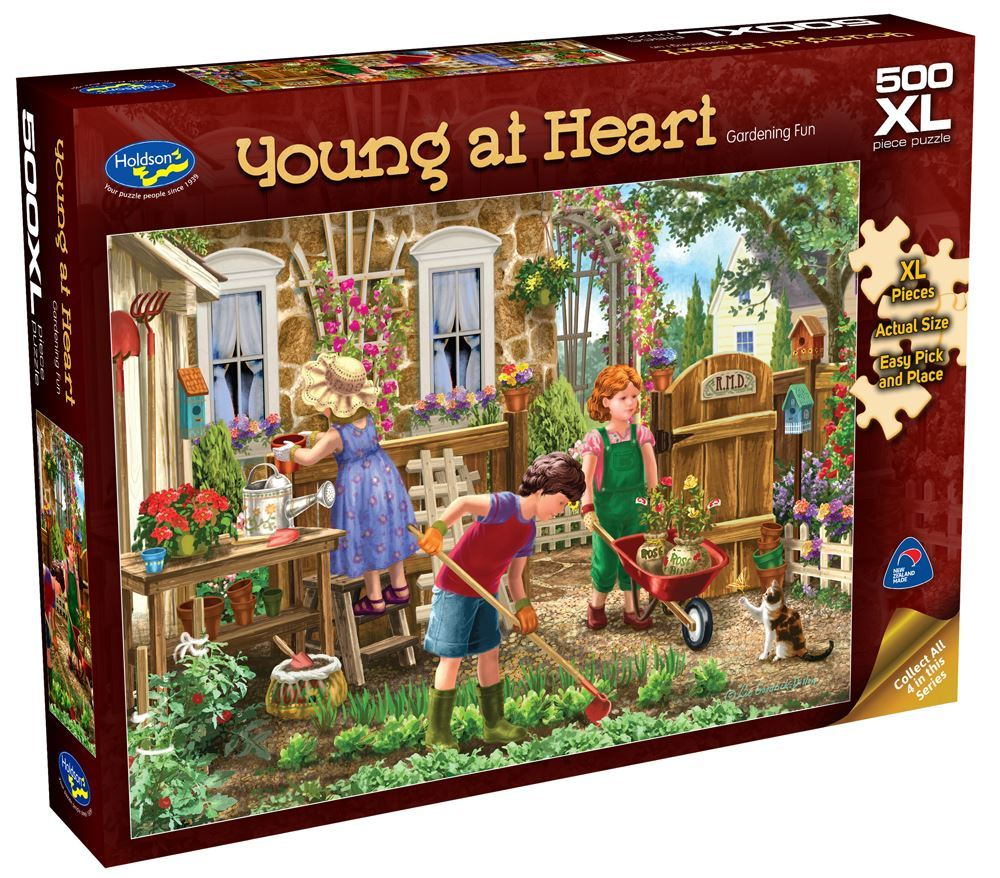 Holdson: Young at Heart - Gardening Fun - 500 Piece XL Puzzle image
