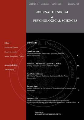 Journal of Social & Psychological Sciences by Syed Nadeem Hussain