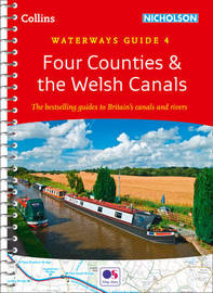 Four Counties & the Welsh Canals by Collins Maps