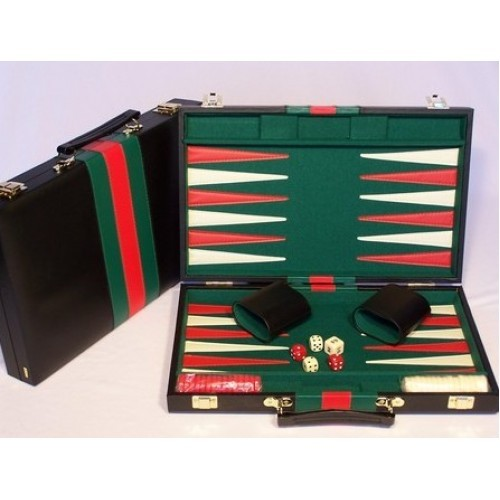 "Backgammon 18"" Vinyl Case - Black"