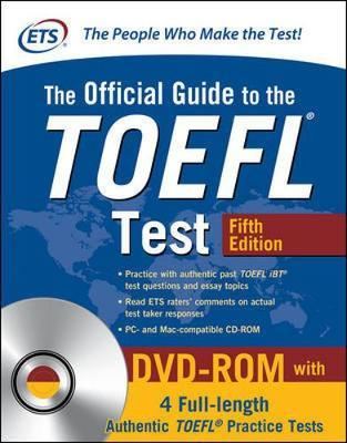 The Official Guide to the TOEFL Test with DVD-ROM, Fifth Edition by Educational Testing Service image