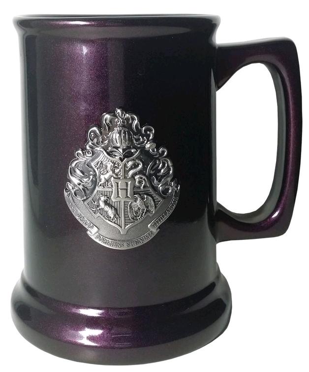 Harry Potter: Metallic Crest Tankard - Hogwarts/Deathly Hallows
