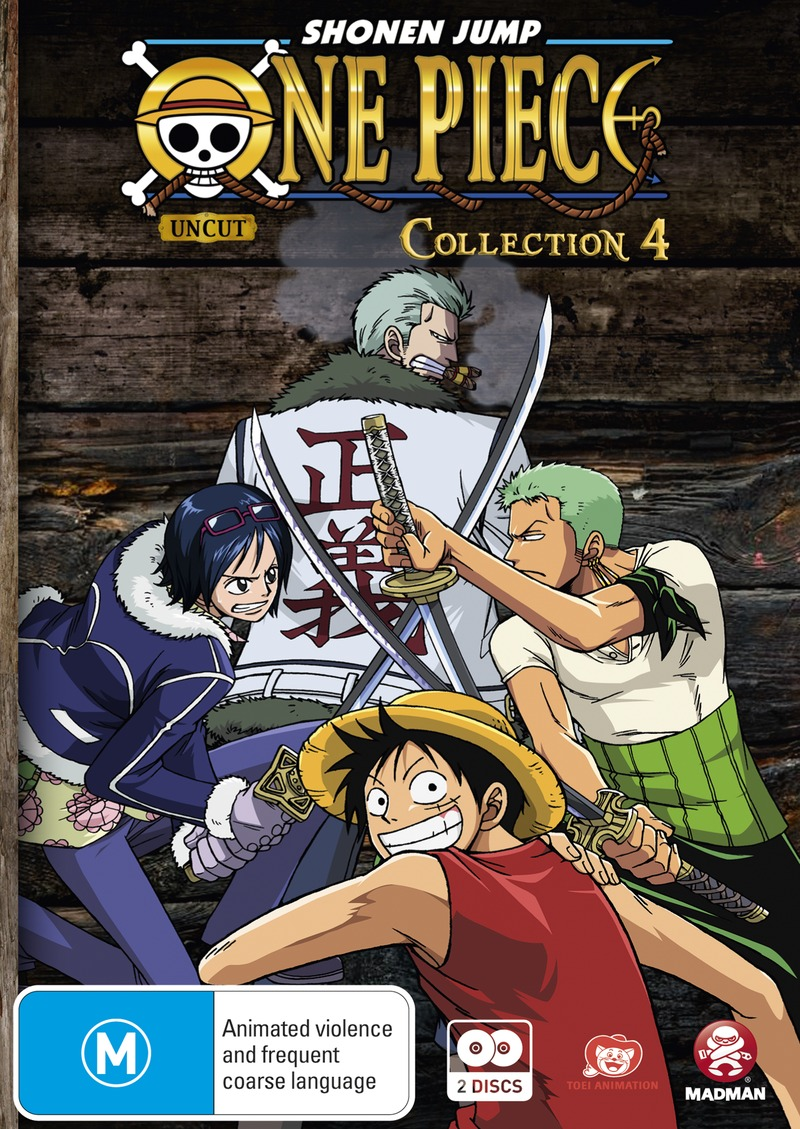 One piece uncut collection 4 on dvd image