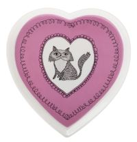 Maxwell & Williams: Purrfect Heart Shape Plate - Purple (14cm)