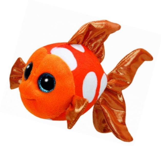 Ty Beanie Boo: Sami Orange Fish - Small Plush