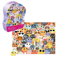 Crocodile Creek: 72-Piece Junior Shaped Puzzle - Lots of Cats