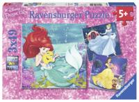 Ravensburger: 3x49 Piece Puzzle Set - Disney Princesses Adventure