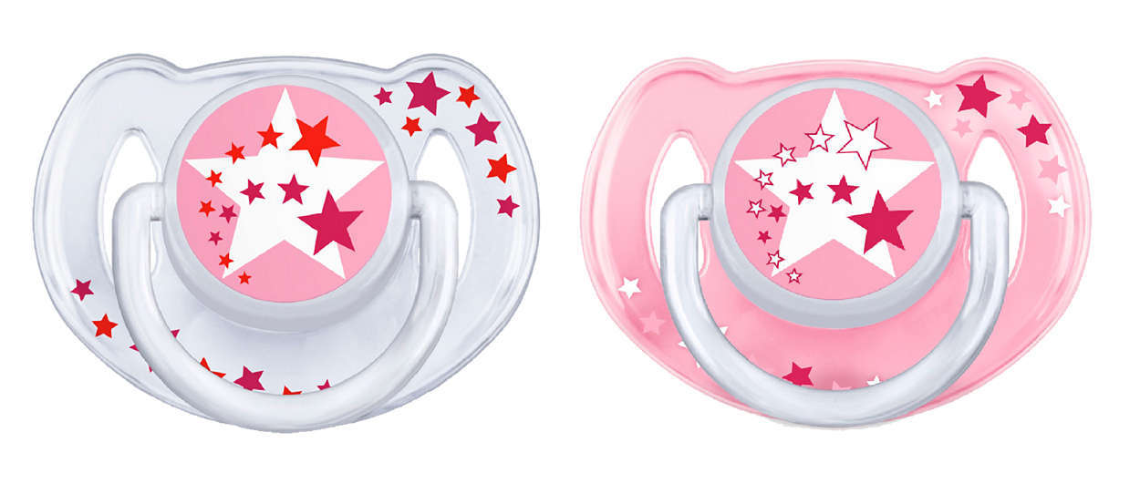 Philips Avent 6m+ Night Time Soother - Pink (2 Pack) image