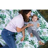 "Little Unicorn: Outdoor Blanket - Tropical Leaf (5"" x 7"")"