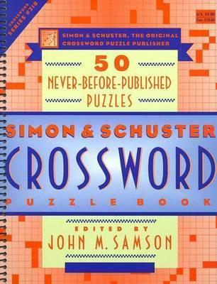 Simon Schuster Crossword Puzzle Boo by SAMSON