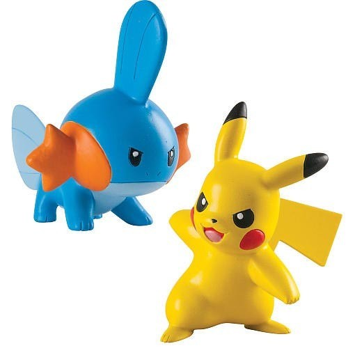 Pokémon: Action Pose Mudkip vs. Pikachu - Figure 2-Pack image