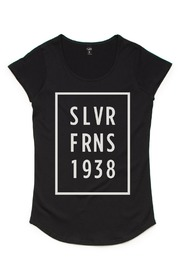 Silver Ferns SLVFN Stars Black Kids T-Shirt (Size 14)