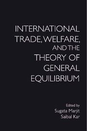 International Trade, Welfare, and the Theory of General Equilibrium image