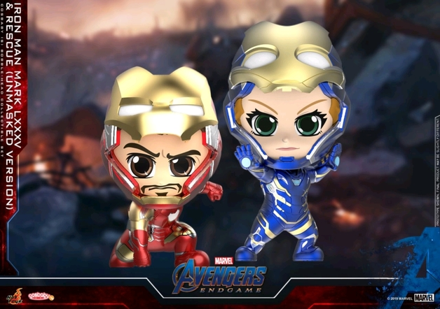 Avengers: Endgame - Iron Man & Rescue (Unmasked) Cosbaby Figure Set