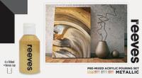 Reeves: Pre-Mixed Acrylic Pour Paint - Metallic (Set 4 /100ml) image