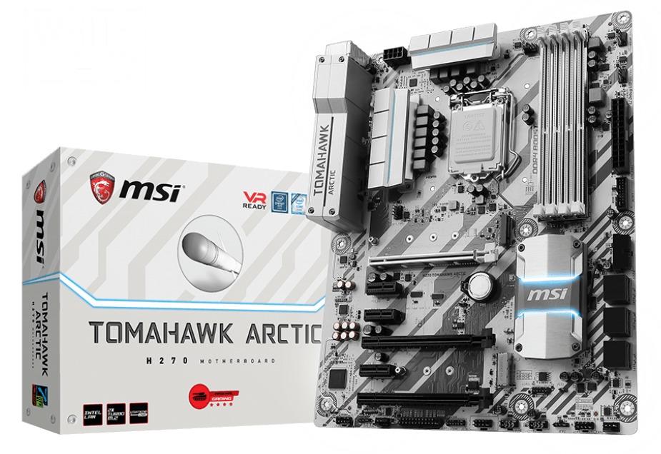 MSI H270 Tomahawk Arctic Motherboard image