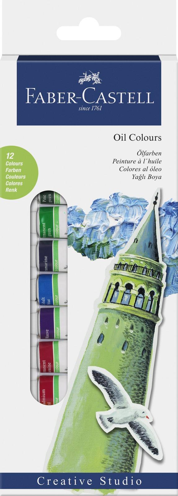 Faber-Castell: Starter Set Oil Colours Box (12 Pcs) image