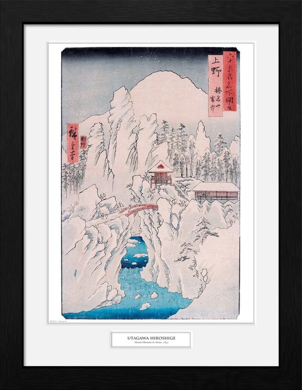 Hiroshige: Mount Haruna in Snow - Collector Print (41x30.5cm)