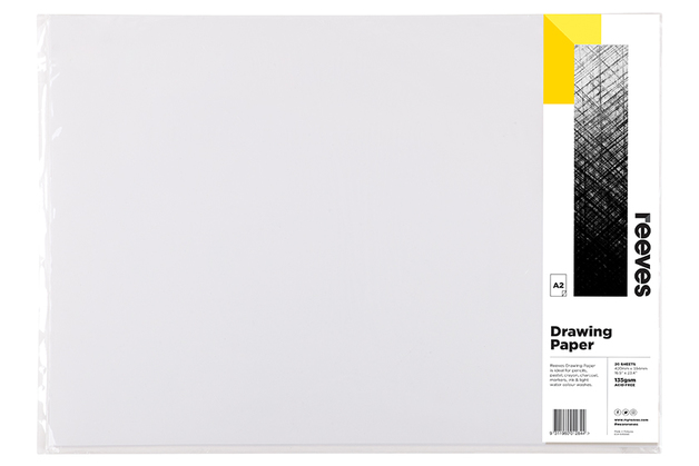 Reeves: Drawing Paper - A2 (135GSM, Pack of 20)