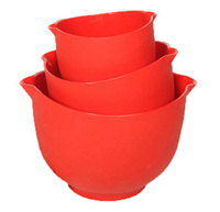 Flexible Red Mixing Bowls - Set of 3
